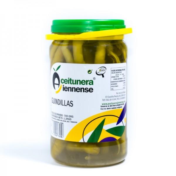 CUBO BANDERILLAS DULCES   PESO NETO 3,7 KGS /PESO ESCURRIDO 2 KGS