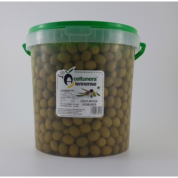 BOTE ACEITUNA VERDE NATURAL MACHACADA 650 GRS
