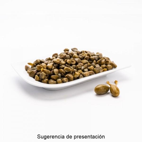CUBO ACEITUNA OKAL VERDE MACHACADA 100% NATURAL   PESO NETO 11 KGS / PESO ESCURRIDO 6,5 KGS